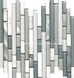 2016 azulejos de mosaico de mármol mezclados de cristal de las tiras de China (H1273)