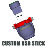 USB 2GB-64GB instantâneo USB2.0 do PVC do OEM