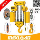 Maxload 0.5~35ton подгонянное тавром таль с цепью 1 тонны электрическая