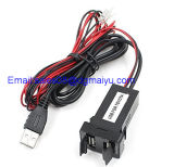 USB novo Charger Socket Dashboard Cell Phone Charger Audio de 2port Dual Car