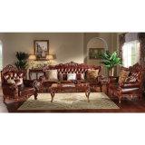 أريكة خشبيّة مع جانب طاولة وخزانة ([506ك])