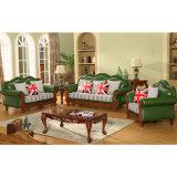 Hölzernes ledernes Sofa für Wohnzimmer-Möbel