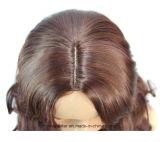 Points de cheveux humains de Remy dans les perruques bouclées pelucheuses de Brown