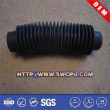 Tubulação ondulada flexível plástica com tampões plásticos
