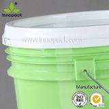 明確な化学薬品円滑油のための20リットルのプラスチックバケツの透過バケツ