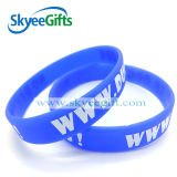 Debossed personalizzato Color Filled Silicone Wristband con Highquality