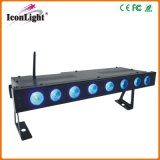 8X5w RGBW Battery Wirelss LED Bar voor Stage Lighting (icon-A085)