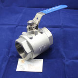 2000wog roestvrij staal Thread 2PC Ball Valve