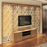 現代デザイン高品質の金属装飾的な部屋スクリーンTVの背景の壁スクリーン中国製