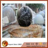 Fuente negra Polished natural de la piedra del jardín