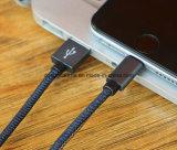Aluminiumblitz8 Pin-Denim USB-Ladung und Daten-Kabel für iPhone 6s plus SE