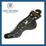 Tarjeta plástica de la visualización de la pulsera para el tobillo del PVC del negro plástico (CMG-042)