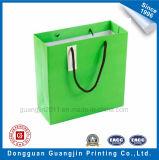 High Green Quality Imprimé Kraft Paper Bag Panier avec étiquette de cadeau