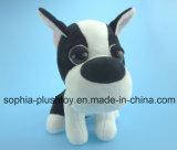 Brinquedo enchido do cão do luxuoso com olhos grandes