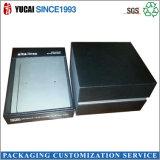 Caixa de empacotamento dos artigos de papelaria pretos da caixa de papel para a venda