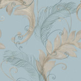 Mur Panel, Modern Design Wallpaper italien avec Big Leaves