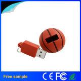 2016の卸売のバスケットボールの形PVC USBのフラッシュ駆動機構