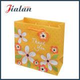 Подгоняйте бумагу цвета слоновой кости «возблагодарите вас» цветет сумки бумаги подарка покупкы