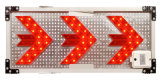 Segnale stradale dell'indicatore luminoso della freccia del LED con 49PCS LED