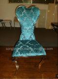 (B8064)椅子を食事する現代宴会のステンレス鋼の中心