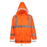 Usura impermeabile riflettente della pioggia del rivestimento di Safetywear Oxford di Ciao-Forza