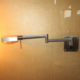 Lámpara de pared rotativa decorativa de la lectura de la cabecera del níquel del satén del hotel