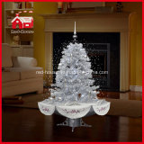 Tutto il Silver Snowing Christmas Tree con il LED Lights e Music