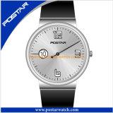 Montre-bracelet imperméable à l'eau vivante colorée d'horloge de nouvelle arrivée pour les hommes et des femmes