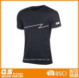 Sport der Männer, der schnelles trockenes Polyester-T-Shirt laufen lässt