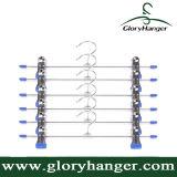 Metal antiruggine Pants Hangers con 2-Adjustable Clips