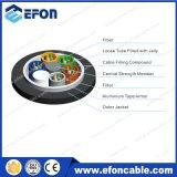 Câble fibre optique carré blindé de tube de la bande en aluminium FRP (GYFTA)