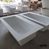 Kingkonree Moderno Negro oval de bañera superficial sólida