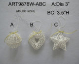 Ornement rose de Decoratioin d'arbre de crochet de Noël, 3asst
