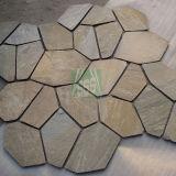 屋外のためのタイルを舗装する自然な石造りの錆ついた一致させたスレート