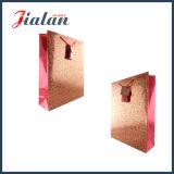 El sellado caliente del oro barato del color rojo modifica la bolsa de papel para requisitos particulares impresa