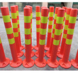 Orange fluorescente Safety Spring Lock Posts con Reflective Tape