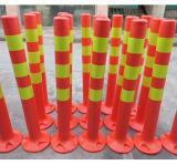 Segno rosso fluorescente della molla di sicurezza di traffico stradale con nastro adesivo riflettente