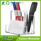 Sostenedor cosmético de calidad superior del lápiz con el organizador de la mesa de 3 compartimientos