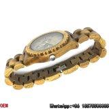El cuarzo verde de calidad superior del reloj del sándalo mira Hl03