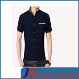 Latest Fitted Casual Cotton Shirt людей с One Pocket (JS9037m)