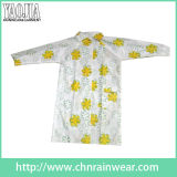 Functional Printed Flower PVC Long Raincoat with New Style