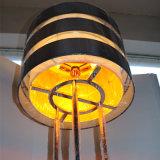 Lampe d'étage ambre décorative de fer de fibre d'hôtel européen