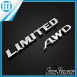 Etiqueta engomada de encargo del cromo, divisa del coche del cromo, emblema de encargo del cromo