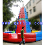 PVC Rock Inflatable Climbing Wall / Amusement Park Inflatable Rock Climbing Wall