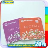 PVC de las ventas al por mayor y etiqueta de papel de NFC