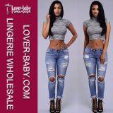 Frauen-Kleidung-Form-Frauen-Jeans (L453)
