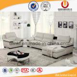 Sofá de la esquina de cuero de Geniune de los muebles de lujo de la sala de estar (UL-R608)