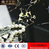 Foshan-Schwarzes und Goldfliese glasig-glänzende Marmorfliesen