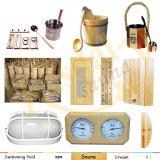 Pièce d'intérieur de sauna de famille de sauna de vapeur de sauna de luxe de vapeur