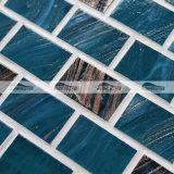 De blauwe Tegel van het Mozaïek van het Glas van de Smelting van de Lijn van het Mengsel Gouden Hete (BGZ020)